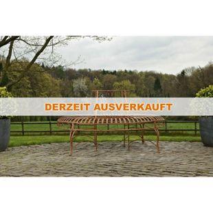CLP Rundbank KAYDEN mit kunstvollen Verzierungen im Jugendstil I Baumbank aus lackiertem Eisen I In verschiedenen Farben erhältlich
