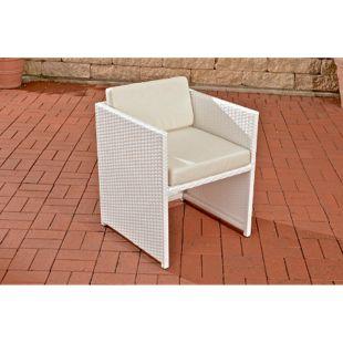 CLP Polyrattan-Sessel TAHITI inklusive Sitzkissen | Robuster Gartenstuhl mit einem Untergestell aus Aluminium | In verschiedenen Farben erhältlich