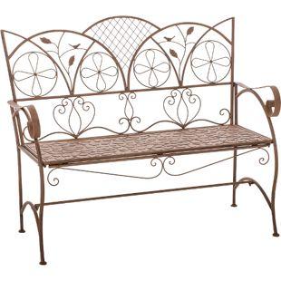 CLP Gartenbank RIEF aus lackiertem Eisen I Sitzbank im Jugendstil I Eisenbank mit 2-3 Sitzplätzen I In verschiedenen Farben erhältlich