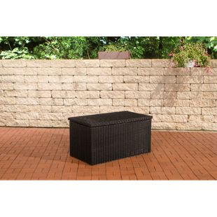 CLP Polyrattan-Aufbewahrungsbox | Gartentruhe für Kissen und Auflagen | In verschiedenen Größen und Farben erhältlich