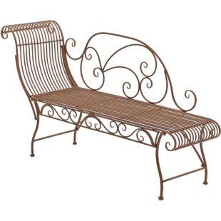 CLP Eisen-Gartenbank PARTOGUS I Recamiere mit kunstvollen Verzierungen I Stabile Sonnenliege aus Eisen I In verschiedenen Farben erhältlich