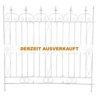 CLP Eisen-Gartenzaun MANGOLD I Individuell erweiterbarer Rankzaun I Rankgitter im Landhausstil I In verschiedenen Farben erhältlich