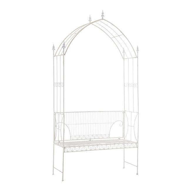 clp rosenbogen nostalgie aus beschichtetem eisen i romantischer rankenbogen mit integrierter. Black Bedroom Furniture Sets. Home Design Ideas