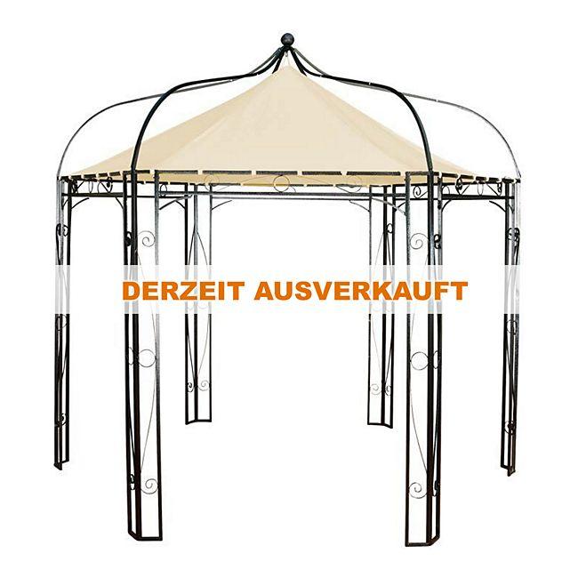 CLP sechseckiger Pavillon DUDLEY aus Metall, im Romantik-Look inkl ...