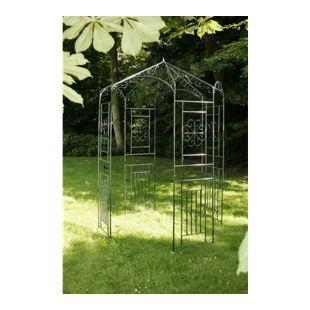 CLP Rosenpavillon aus Eisen mit stilvollen Verzierungen | Rankpavillion aus pulverbeschichtetem Eisen | Gartendekoration im Jugendsstil