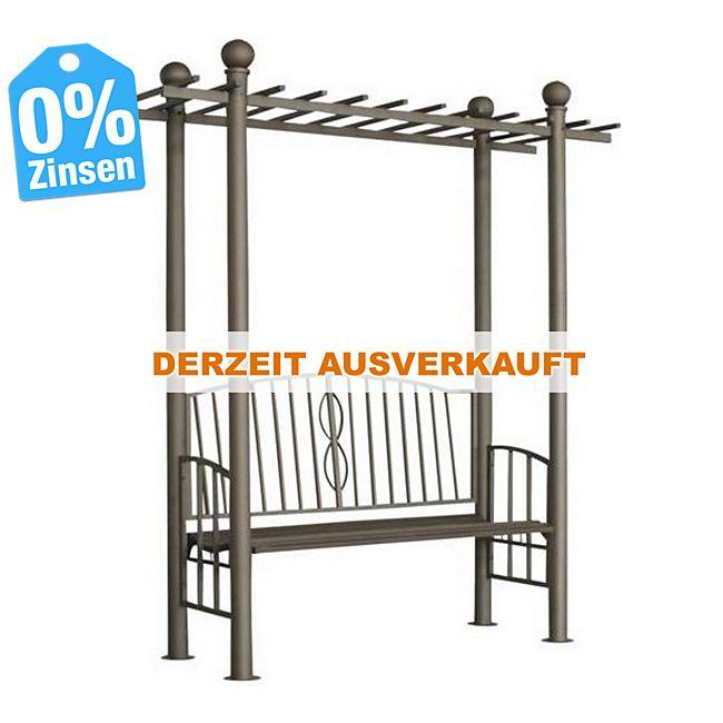 clp pergola ulpgar 02 mit integrierter sitzbank aus beschichtetem eisen i robustes bepflanzbares. Black Bedroom Furniture Sets. Home Design Ideas