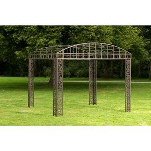 CLP Luxus Pavillon Klassik Aus Pulverbeschichtetem Eisen I Pavillion Mit Stilvollen Verzierungen I Garten Rankpavillon