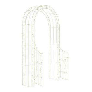 CLP Eisen-Rosenbogen SINA mit Eingangspforte I Torbogen mit stilvollen Verzierungen I Rankhilfe im Landhausstil I In verschiedenen Farben erhältlich