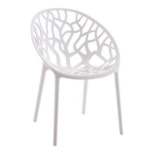 CLP Gartenstuhl HOPE aus Kunststoff I Wetterbeständiger Stapelstuhl mit einer max. Belastbarkeit von 150 kg I In verschiedenen Farben erhältlich
