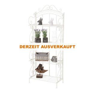 CLP Eisen-Standregal ANTJE I Klappregal mit 4 Ablagefächern im Landhausstil I In verschiedenen Farben erhältlich