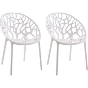 CLP 2er-Set Gartenstuhl HOPE aus Kunststoff I 2x Wetterbeständiger Stapelstuhl mit einer max. Belastbarkeit von: 150 kg I In verschiedenen Farben erhältlich