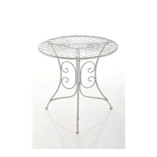 CLP graziler Eisentisch ARIANO in nostalgischem Design, Durchmesser Ø 54,5 cm (aus bis zu 2 Farben wählen)