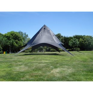 CLP XL-Sternzelt für den Garten I Event-Zelt mit 14 Meter Durchmesser I Gartenzelt mit einer überdachten Fläche von ca. 40 m² I In verschiedenen Farben erhältlich