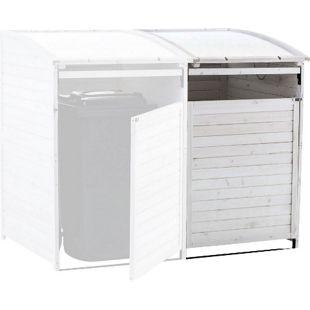 CLP Mülltonnenbox-Erweiterung aus Holz I Mülltonnenbox mit aufklappbarem Dach I Mülltonnen-Unterstand mit verschließbarer Tür