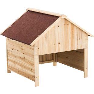 CLP Holzgarage für Rasenroboter | Unterstand für Rasenmähroboter mit UV-Strahlenschutz |  Überdachung für Mähroboter aus Holz | Holzhaus für Rasenroboter | In verschiedenen Farben erhältlich
