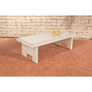 CLP Poly-Rrattan Garten-Tisch SANDNES, ALU Gestell rostfrei, 5 mm RUND-Geflecht