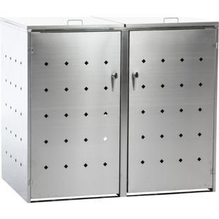 CLP Mülltonnenverkleidung Nelli Aus Edelstahl I Unterstand Für 2-3 Mülltonnen Bis 240 Liter I Mülltonnenbox Edelstahl Anthrazit