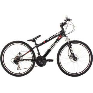 KS Cycling 26 Zoll Dirtbike Mountainbike 21 Gänge Dirrt schwarz