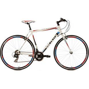 KS Cycling Fitnessrad 21 Gänge Fitness-Bike Velocity weiß 28 Zoll