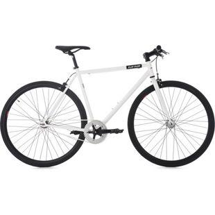 KS Cycling 28 Fahrrad Fixie Singlespeed Flip Flop weiß-schwarz