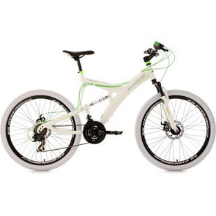 KS Cycling Fully Mountainbike 21 Gänge Topspin 26 Zoll weiß-grün