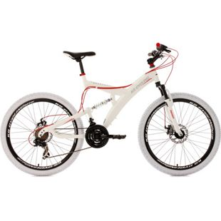 KS Cycling Fully Mountainbike 21 Gänge Topspin 26 Zoll weiß-rot