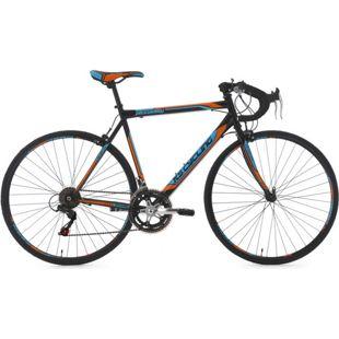 "KS Cycling Rennrad 28"" Piccadilly schwarz-orange 14 Gänge"