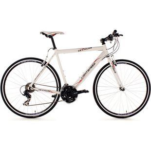 KS Cycling Fitnessrad 21 Gänge Fitness-Bike Lightspeed (White) 28 Zoll