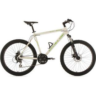 KS Cycling Mountainbike Hardtail 24 Gänge GTZ 26 Zoll weiß-grün