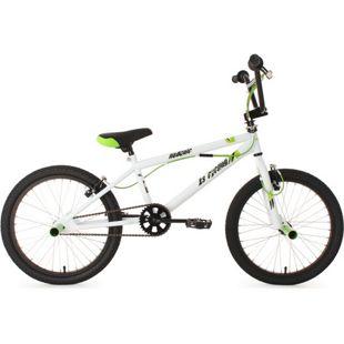 KS Cycling 20 Zoll Freestyle BMX Hedonic Weiß-Grün