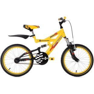 KS Cycling Kinderfahrrad Fully Kinder-Mountainbike 18 Zoll Krazy