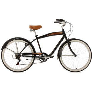 KS Cycling Beachcruiser 26 Zoll Vintage schwarz 6-Gänge