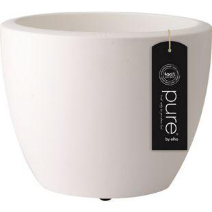 Elho Pure Soft Round Ø60xH45 cm, Rollen, Weiß