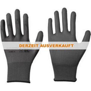 Leipold Feinstrickhandschuh Polyester grau PU-Beschichtung Gr. 9 Nr. 101327