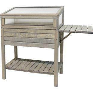 Gardissimo Holz-Hochbeet 118x39x107 cm, grau