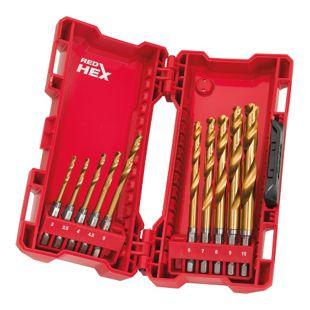 Milwaukee Metallbohrer SET 48894759 56 tlg. HSS-G RED HEX Titan SHOCKWAVE