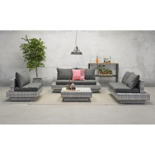 Garden Impressions Loungegruppe Zwolle 4tlg. Set Shadow Grey/ Sand