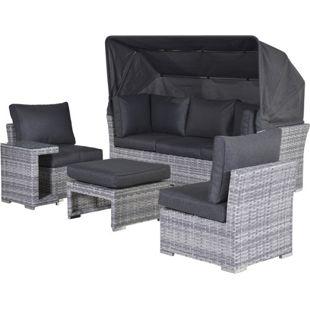 Garden Impressions Lounge-Set Donau/Alkmaar 5tlg. Set Shadow Grey