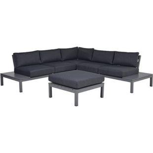 Garden Impressions Alu-Loungegruppe Annabella 4tlg. Set Arctic Grey/ reflex black