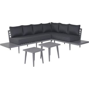 Garden Impressions Alu-Loungegruppe California 4tlg. Set Arctic Grey/ reflex black