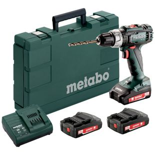 Metabo Akku-Bohrschrauber  602321540 SN BS 18 L Set 3x 18,0V-2,0Ah