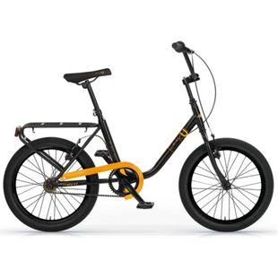MBM Citybike  20 Zoll Schwarz-Orange