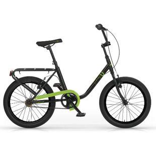 MBM Citybike  20 Zoll Schwarz-Grün