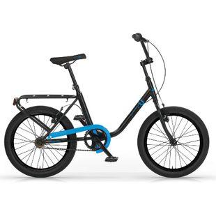MBM Citybike 20 Zoll Schwarz-Blau