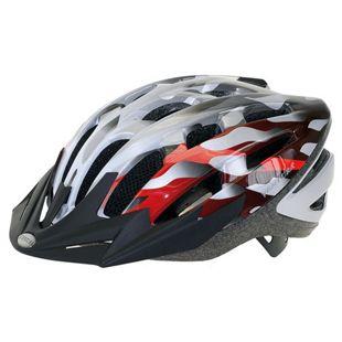Ventura Fahrradhelm Silber-Rot