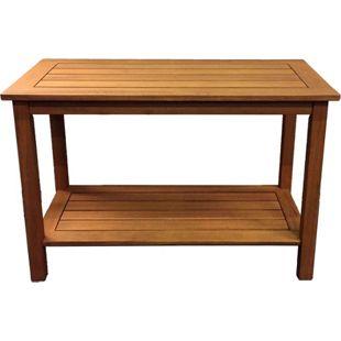 Grasekamp Beistelltisch Santos 100x45x75cm  Hartholz Kaffeetisch Gartentisch