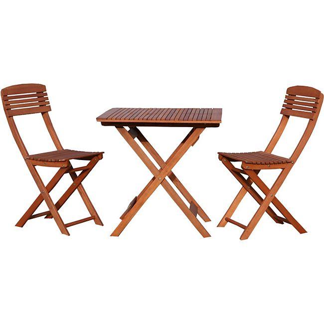 grasekamp balkonm bel natur 3tlg klapptisch klappst hle online kaufen. Black Bedroom Furniture Sets. Home Design Ideas