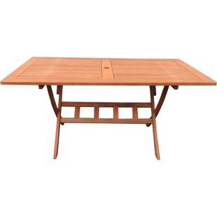 Grasekamp Gartenklapptisch Rio Grande 140x80cm  Holztisch Esstisch Gartentisch  Balkon-Tisch