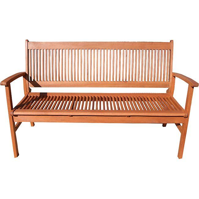 grasekamp gartenbank 150cm natur bank holzbank parkbank eukalyptus online kaufen. Black Bedroom Furniture Sets. Home Design Ideas