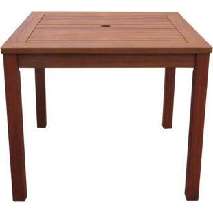 Grasekamp Gartentisch 90x90cm Natur Holztisch  Tisch Gartenmöbel Eukalyptus